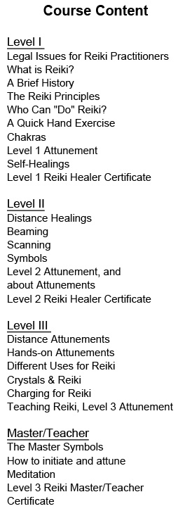 Reiki Attunement Course The Work Of Nancy Ho